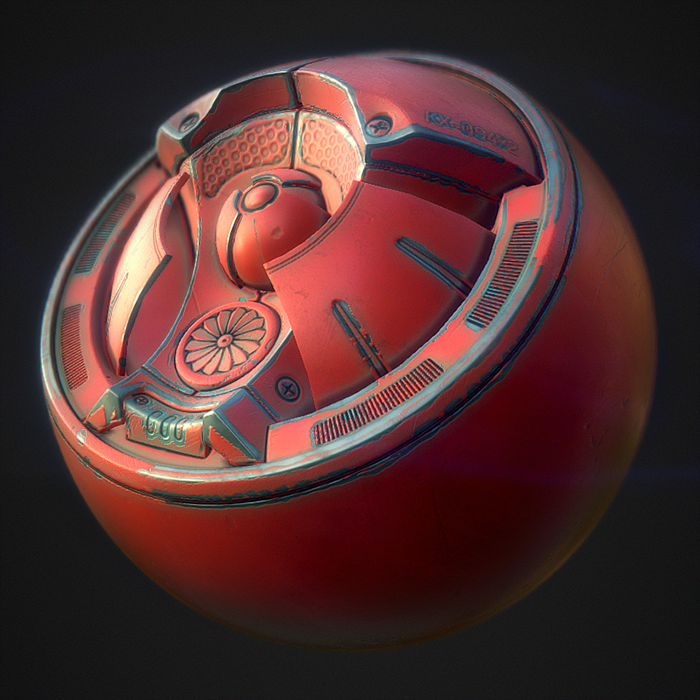 PBR Substance Material - Painted Metal | Zbrush & 3D | Smart