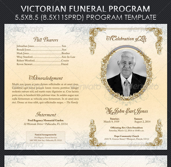 Free Funeral Program Templates | Funeral Pandhlets Free Program ...