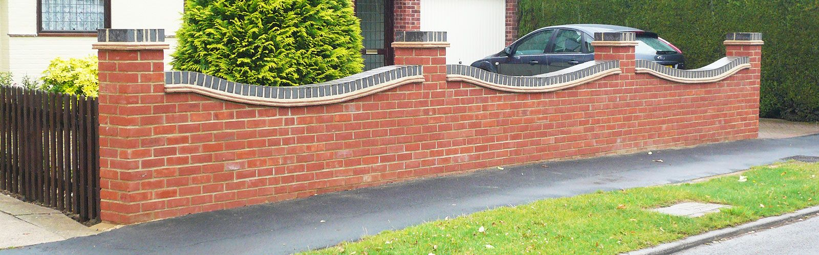 BRICK BOUNDARY WALL WITH GRILL Google Search SIKKA LANDSCAPE