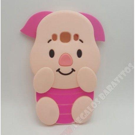 6d55b7e7d63 Carcasa divertida diseño 3D cerdito rosa para tu móvil Galaxy J7 2016