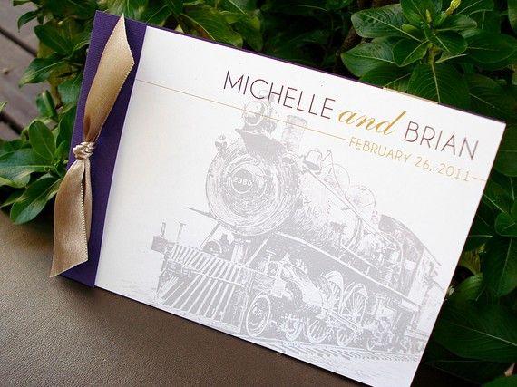 LOCO-MOTIVE Booklet Wedding Invitation - Sample Invitation ideas - formal invitation style