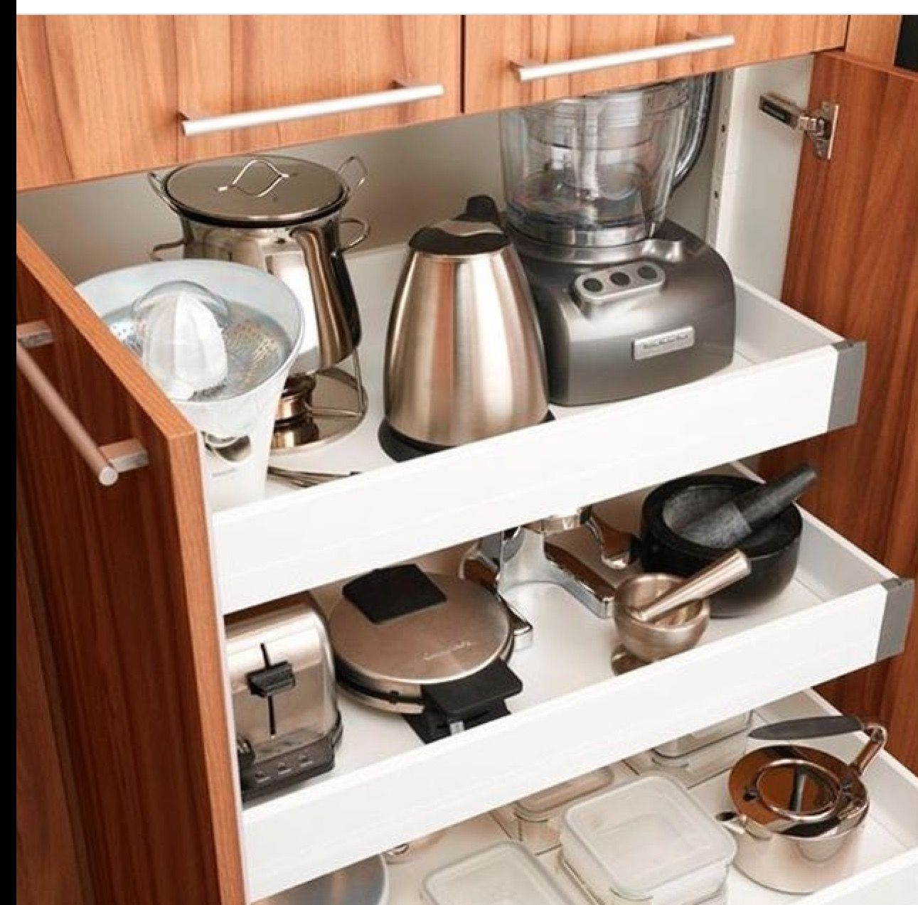 Pin By Coup On Organization Kitchen Cabinet Storage Kitchen Appliance Storage Diy Kitchen Storage
