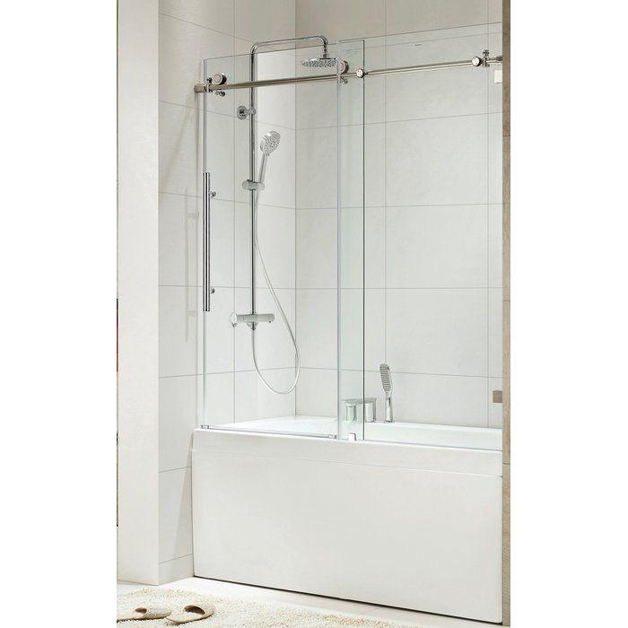 Trident Lux 60 X 76 Single Sliding Shower Door In 2019