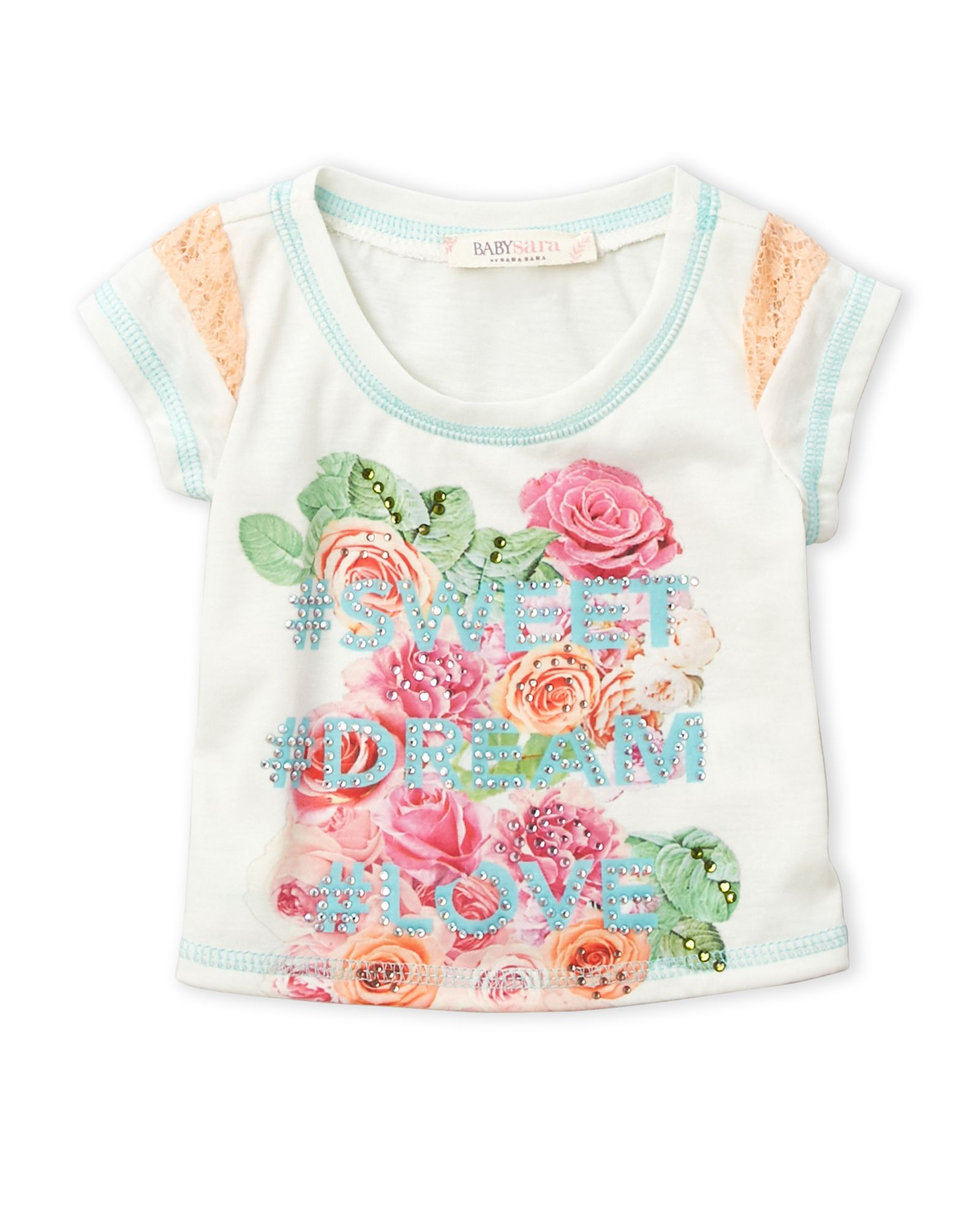 Baby Sara Infant Girls Floral Graphic Tee