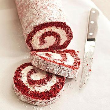 Our Best Diabetic Cake Recipes Red velvet cake roll Red velvet