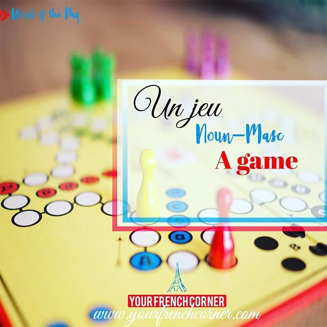 Word of the day Un jeu 🎰  #wordoftheday #LearnFrench #learningfrench #frenchteachers #frenchteachersoninstagram #teachingfrench #frenchclass #frenchlessons #francaisfacile #easyfrench #frenchonline #frenchbeginner #frenchimmersion #FLE #France #yourfrenchcorner  #Regram via @yourfrenchcorner