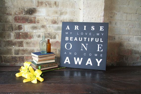 Arise my love  Canvas Print 46 x 46cm by AuraBowman on Etsy, $91.00