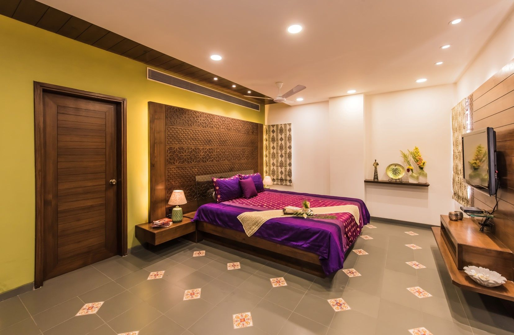 Contemporary Indian Style Apartment Interiors | MS Design ...