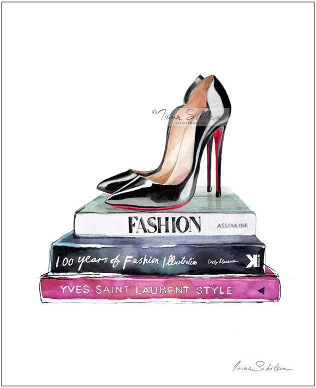 Louboutins Louboutin Shoes Christian Louboutin Fashion Etsy Fashion Poster Christian Louboutin Christian Louboutin Black Pumps