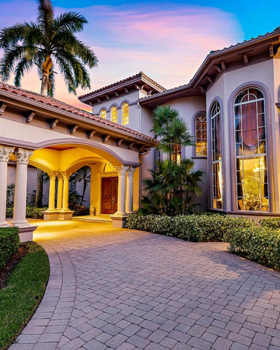 Extraordinary Waterfront Estate In West Palm Beach Listed By Craig Heather Bretzlaff Douglas Elliman Luxury House Designs Luxury Homes Fancy Houses