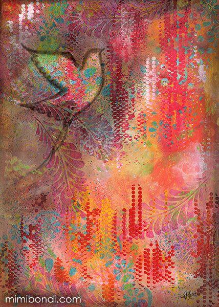 Soar | Mixed media painting by Mimi Bondi