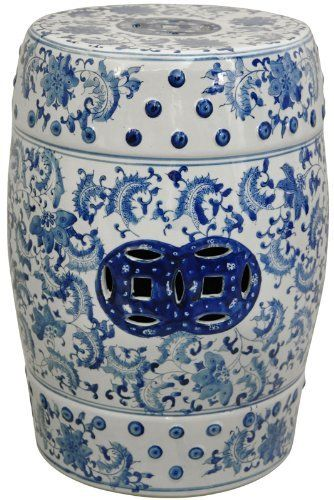 Brilliant Blue White Chinese Garden Stool Or Side Table Decor Creativecarmelina Interior Chair Design Creativecarmelinacom
