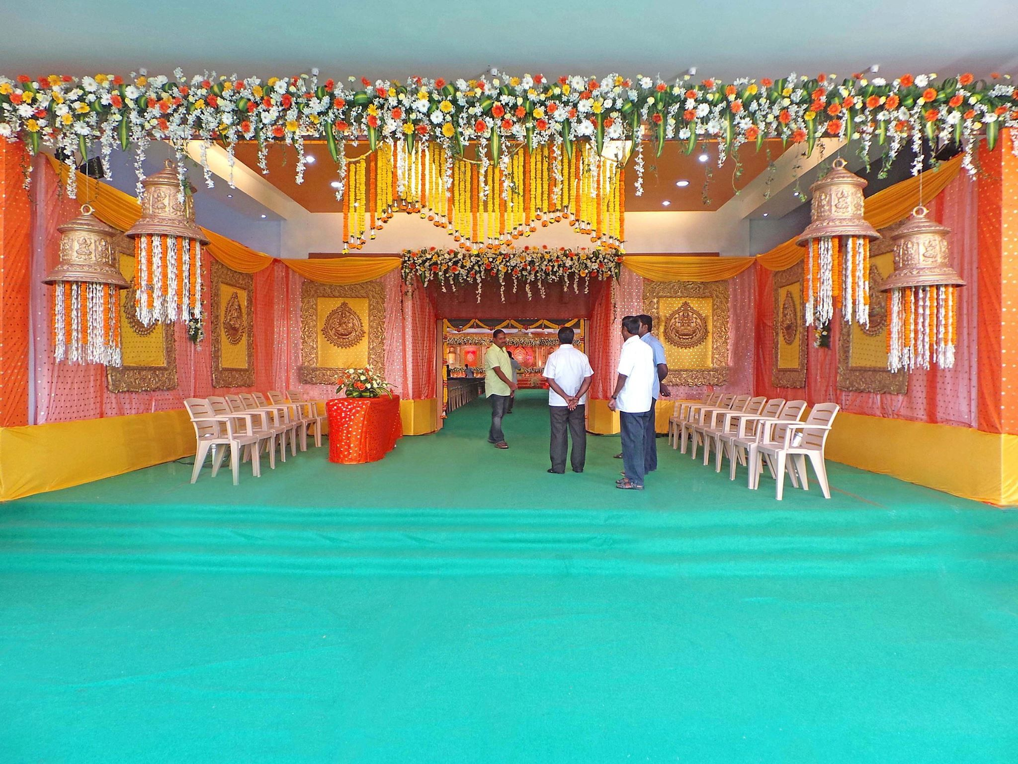 Wedding Bells Decorations Pinasha Latha On Floral Entrance  Pinterest  Wedding Mandap