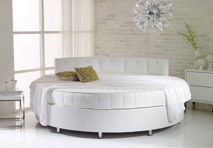 Verve Round Bed With Pearl Headboard Bedmill Co Uk Round Beds Home Decor Bed Design Round bed frame and mattress