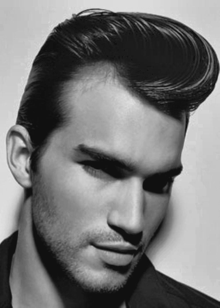 50s Mens Hairstyle Upbrushed And Set At The Front Glasses Mens Hairstyles Men Haircut Styles 1960s Hair