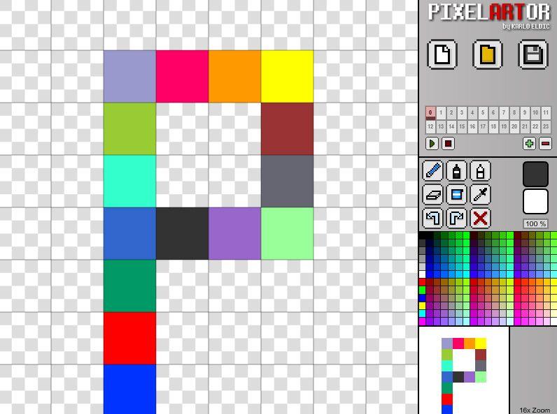 PixelArtor - Free online pixel art maker, editor and image
