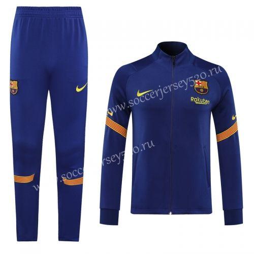 2020 2021 Barcelona Camouflage Blue Thailand Soccer Jacket Uniform Lh In 2020 Blue Camouflage Jackets Soccer Training
