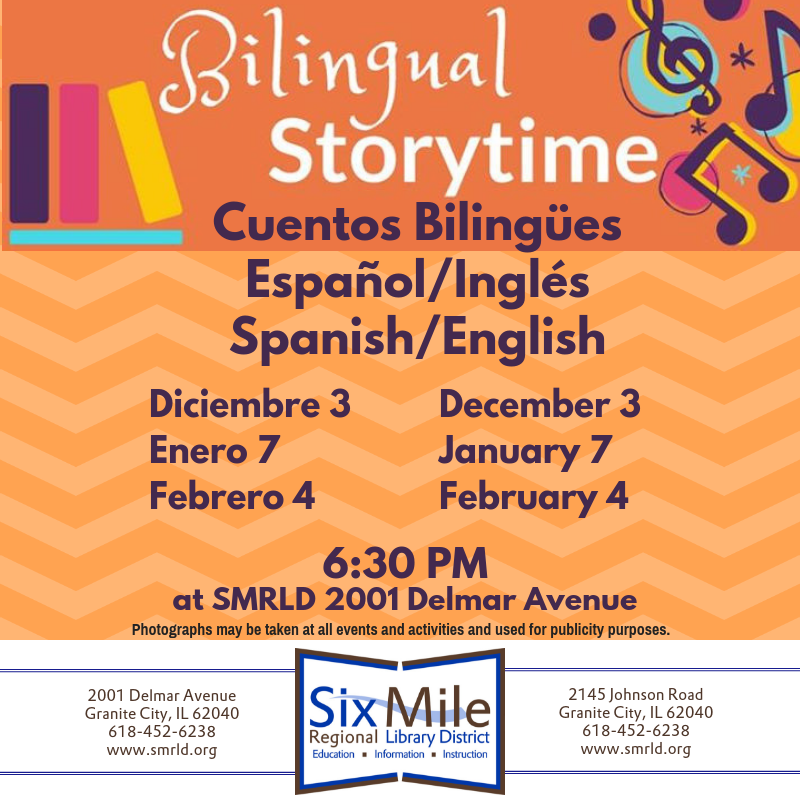 Spanish English Bilingual Story Time This Monday At 6 30 Pm