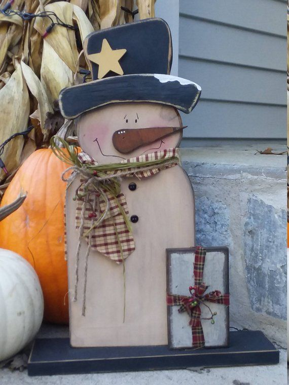 Primitive Country Wooden Snowman/Standing Snowman/Wooden Snowman/Made PER Order NOT ready to ship #weihnachtenholz