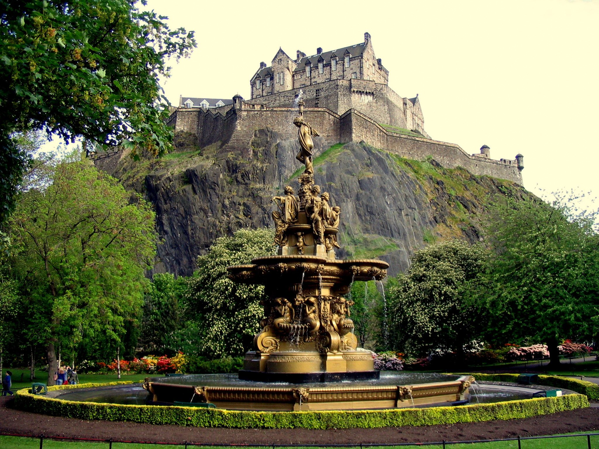 Edinburgh Castle, Scotland. Set atop an imposing volcanic ...