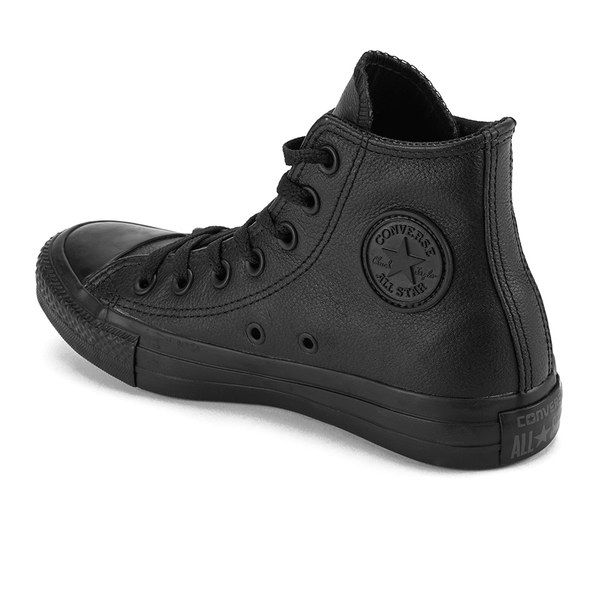 97bb8474597d3 Converse Chuck Taylor All Star Leather Hi-Top Trainers - Black ...