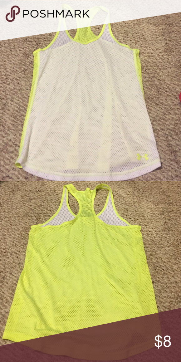 Mesh UA Tank Top Mesh Under Armour Tank. Is see-through. Size M. Under Armour Tops Tank Tops