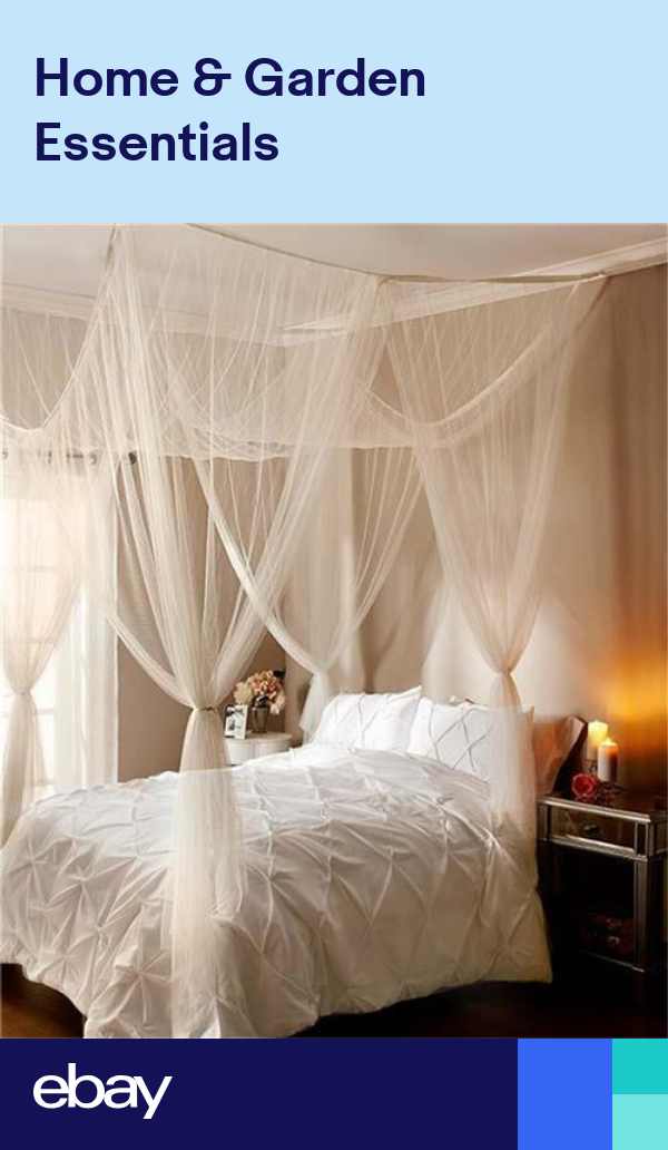 White Or Ecru Elegant Romantic Sheer Bed Canopy Fits All Bed Sizes Bedroom Decor Canopy Bedroom Decor Canopy Bedroom Bed Design