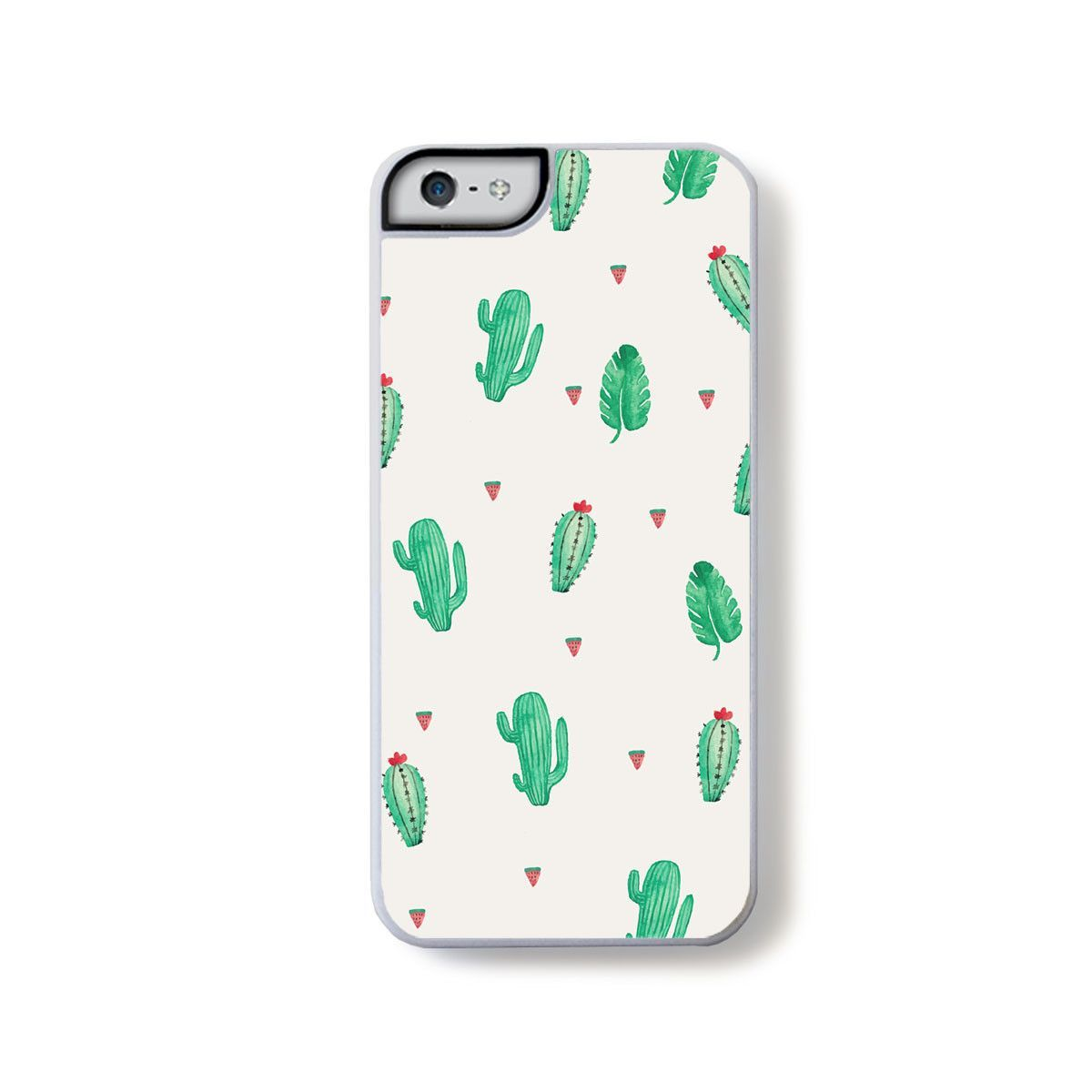 Small green cactus open pattern for iPhone 5