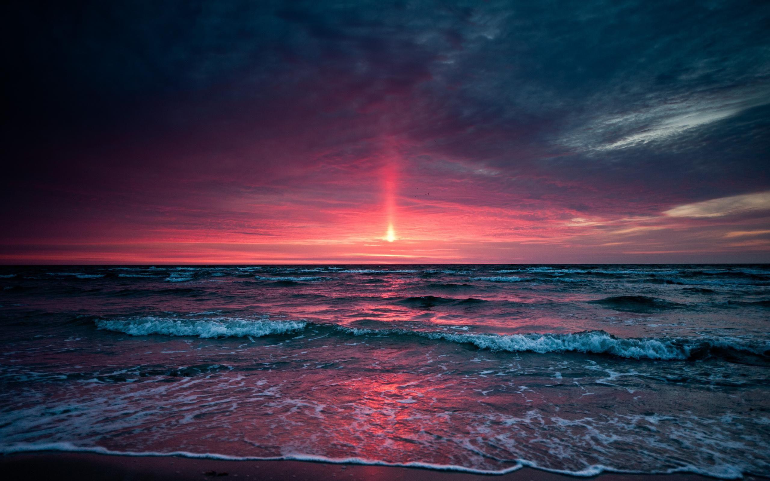 Image For Beautiful Beach Sunset HD Desktop Wallpaper