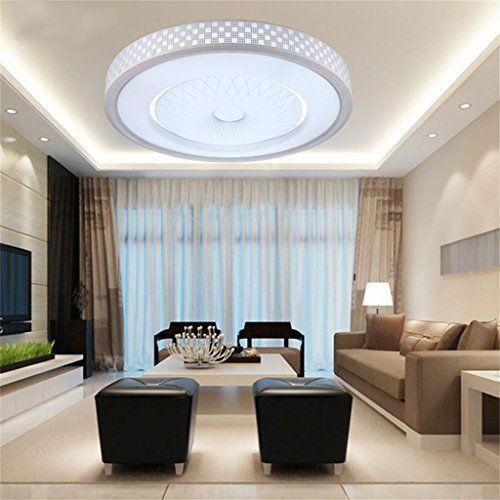 DELLTSala LED lámpara de techo del dormitorio minimalista moderno ...