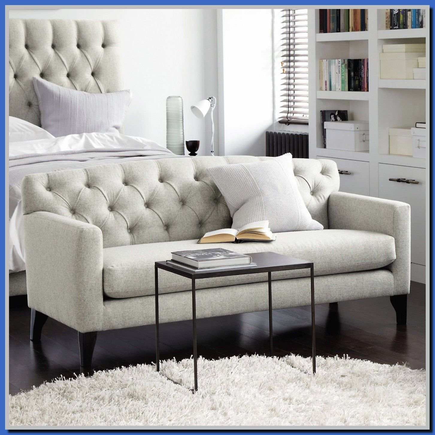 58 Reference Of Sofa Bedroom Furniture In 2020 Small White Bedrooms Bedroom Couch Couch And Loveseat
