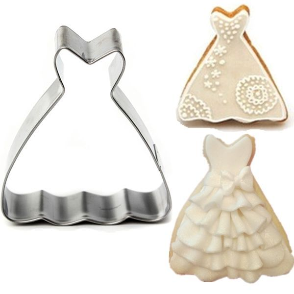 Wedding Dress Princess Ball Gown Cookie Cutter Biscuit Jelly Fondant Cake Mold