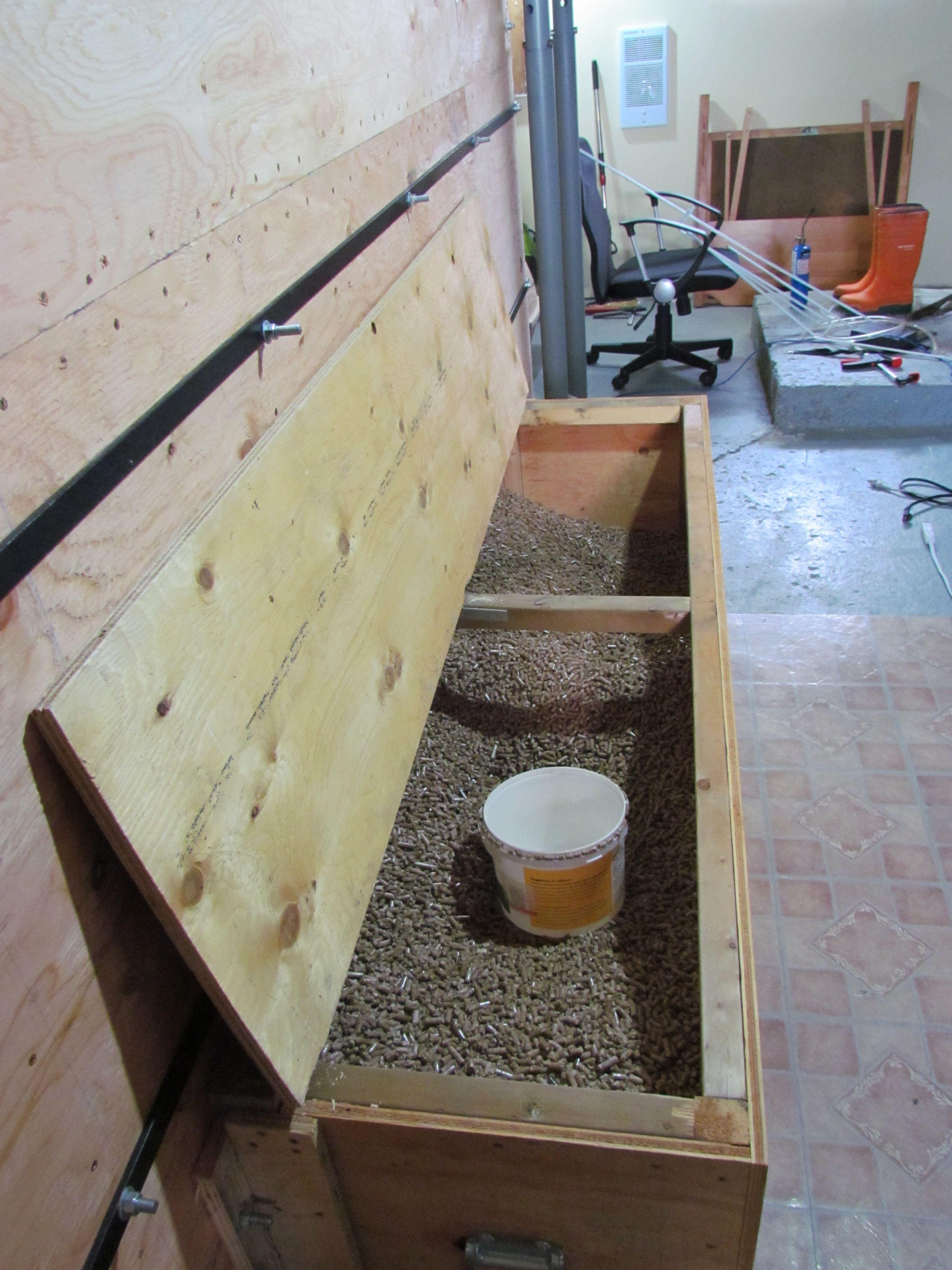 3 5 Ton Bulk Wood Pellet Storage Box Pellet Stove Wood Pellets Corner Wood Stove