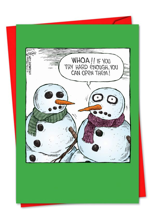 Snowman Open Eyes Card | Funny cards, Funny christmas and Humor