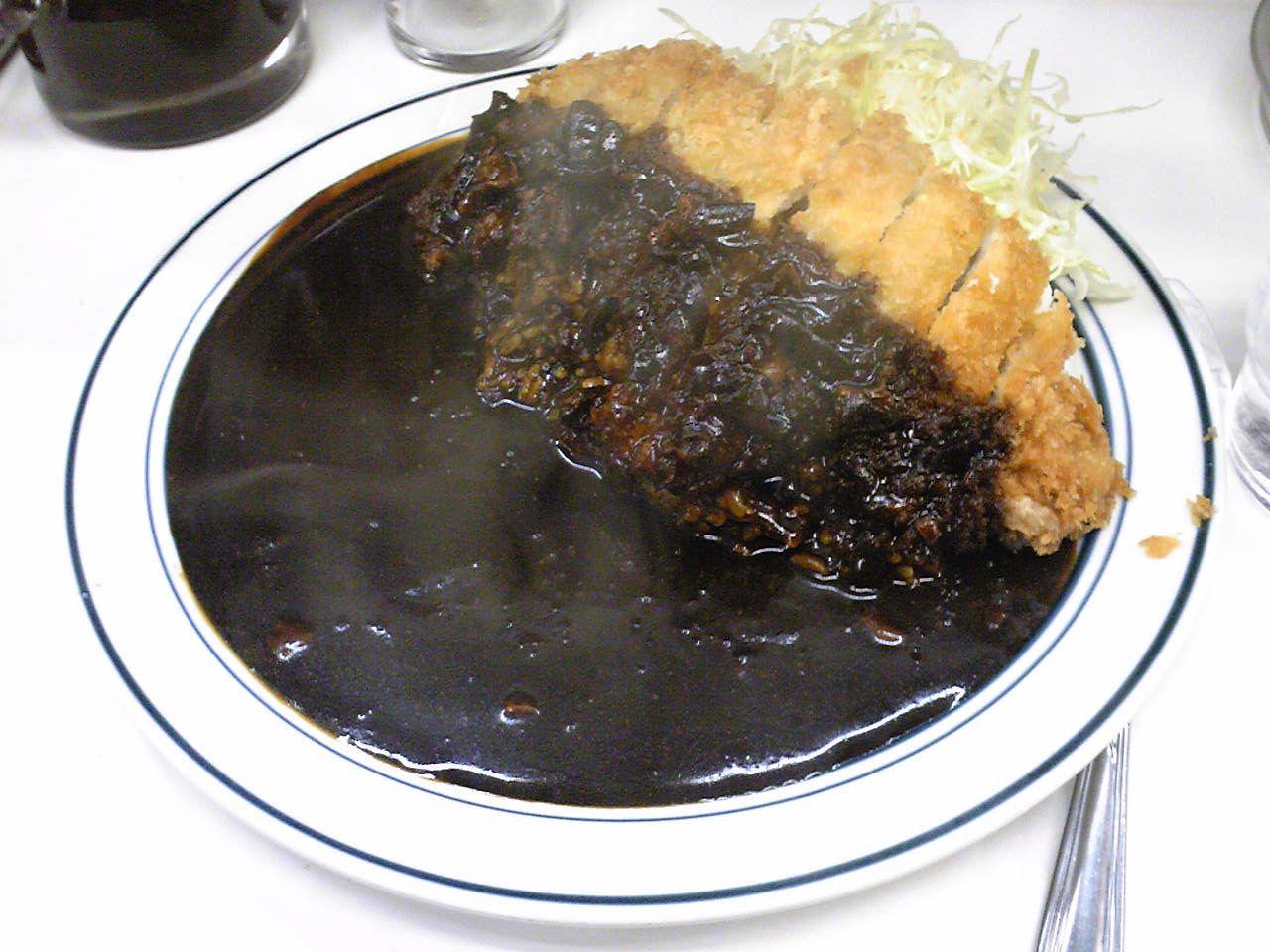Black Katsu Curry カツカレー 食べ物のアイデア カレー