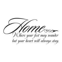 """Sisustustarra tekstillä""""Home where your feet my wander but your heart will always stay"""" barbarasangi"""