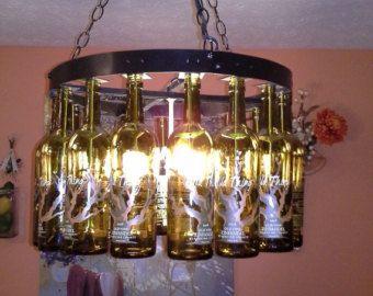 Beer bottle pool table light bottle chandelier wine bottle beer bottle pool table light by bigswigdesign on etsy greentooth Images