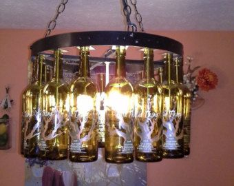 Beer bottle pool table light bottle chandelier wine bottle beer bottle pool table light by bigswigdesign on etsy keyboard keysfo Images