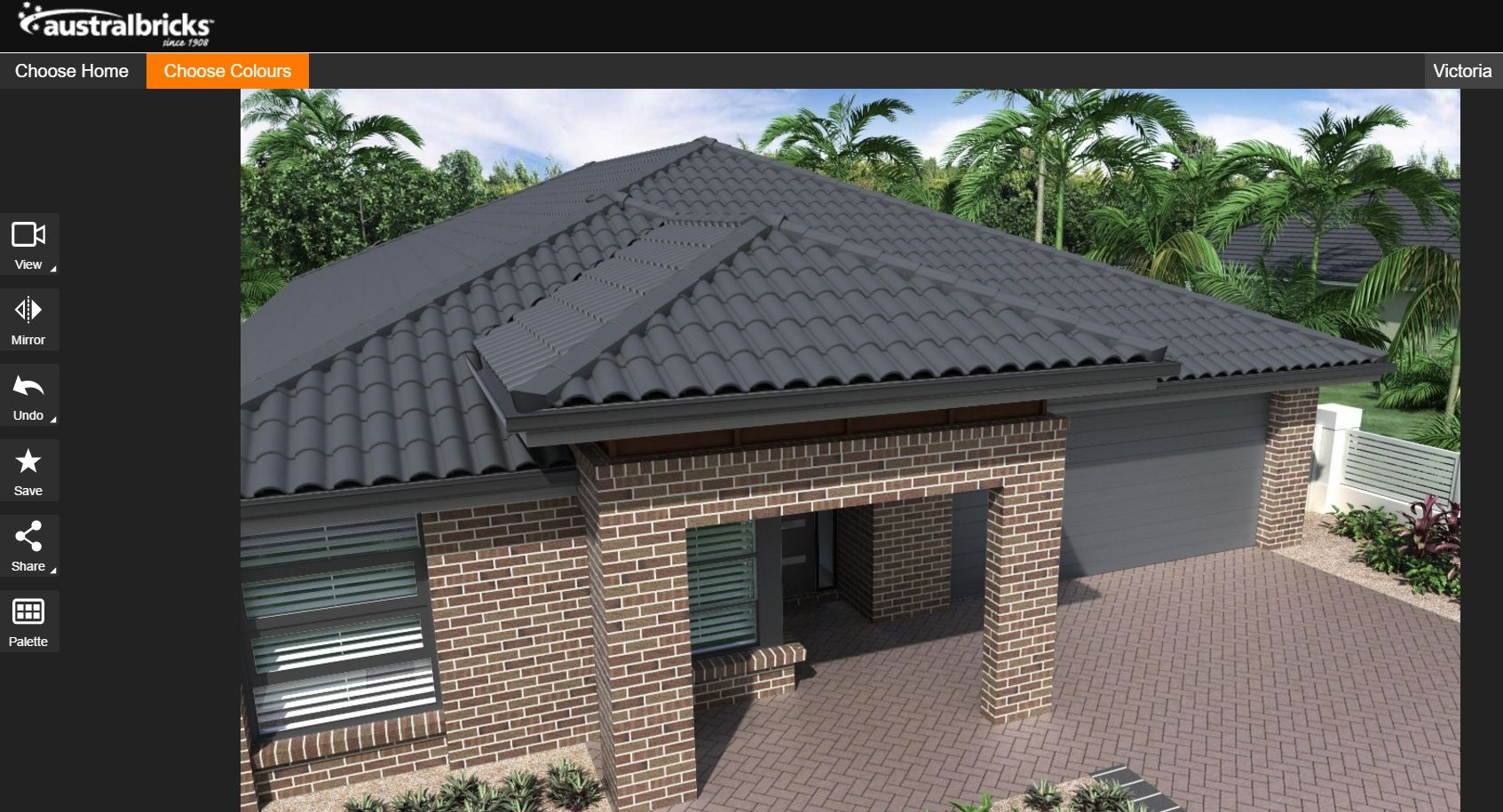 Colorbond roofing colours pictures to pin on pinterest - Austral Melbourne Series Hawthorn Brick With Colorbond Monument Using Ivisualise