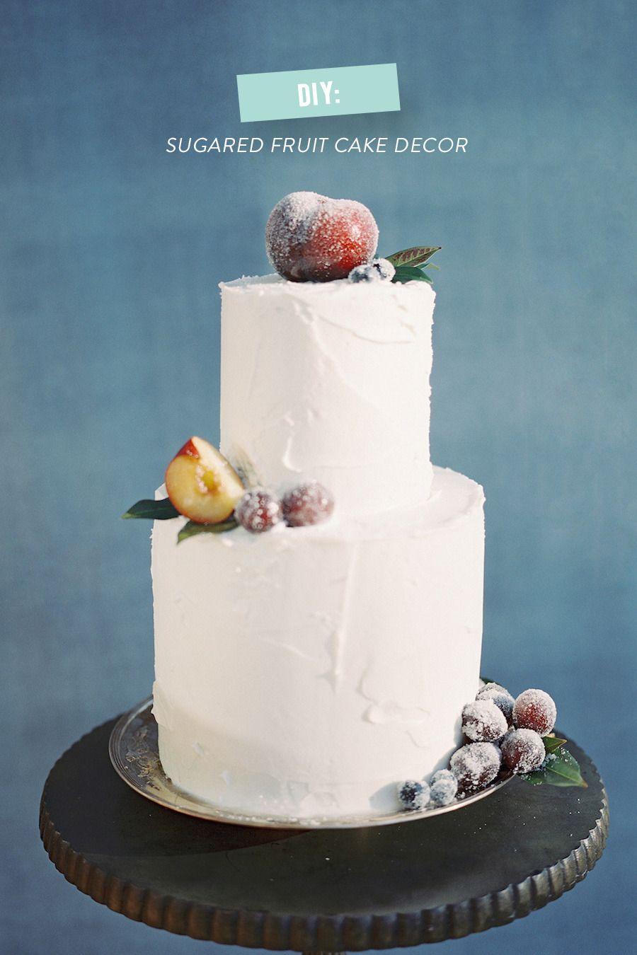 Diy Sugared Fruit Holiday Cake Fruit Cake Decorating Fruit Cakes