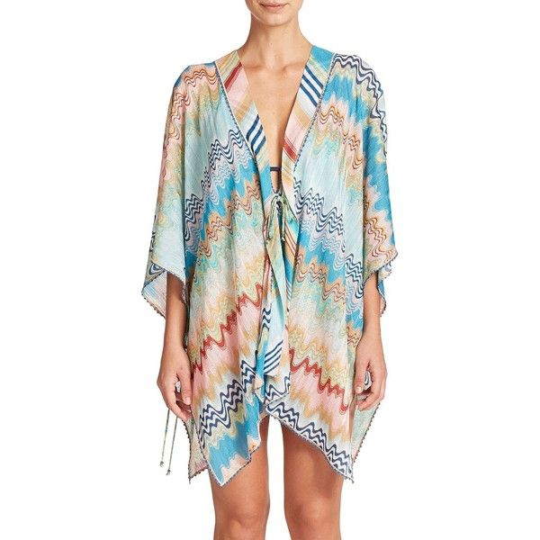 a144e90b2e Missoni Mare Short Wrap Swim Coverup ($555) ❤ liked on Polyvore featuring  swimwear,