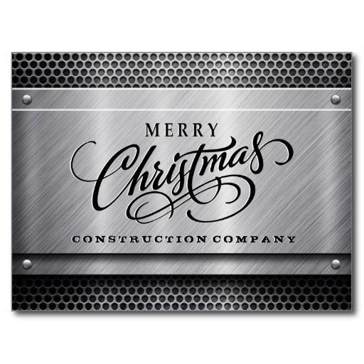 Brushed metal construction business christmas card business and brushed metal construction business christmas card template wajeb Image collections