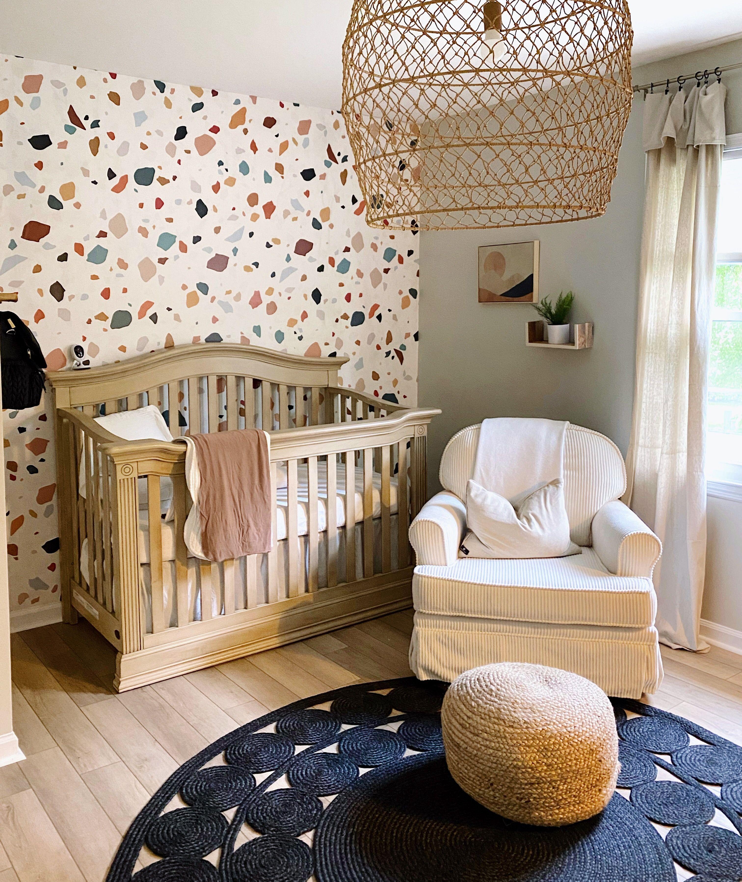 The Terrazzo Wallpaper In 2021 Girls Room Wallpaper Nursery Wallpaper Accent Wall Modern Kids Room