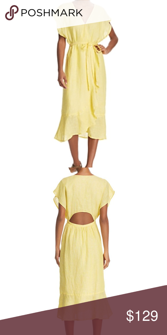 13a00d546d Joie Filma Cut out Linen Wrap Dress in Pineapple As refreshing as a glass  of sweet tea