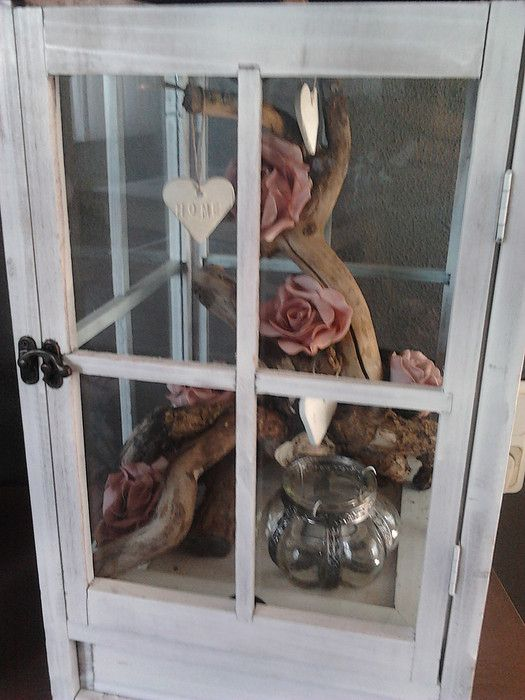 Windlicht met tak en foambloemen decoratie voor in huis pinterest lantaarn decoratie en - Idee deco woonkamer foto ...