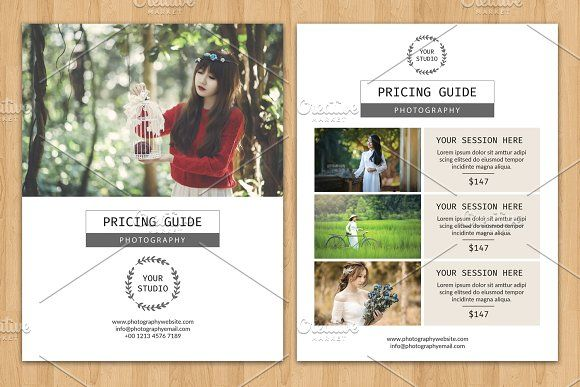 Photography Price List Flyer V513 Photography Price List And Brochures