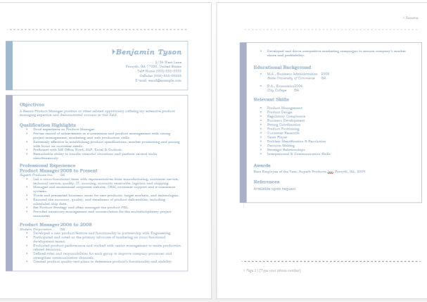 19 Free Product Manager Resume Samples in MS Word Format