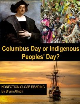 Nonfiction Close Reading Christopher Columbus Day Or Indigenous People S Day This Non Close Reading High School English Lesson Plans Education Lesson Plans