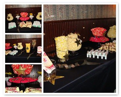 Movie Theme Parties Was Decorated With Floral Popcorn