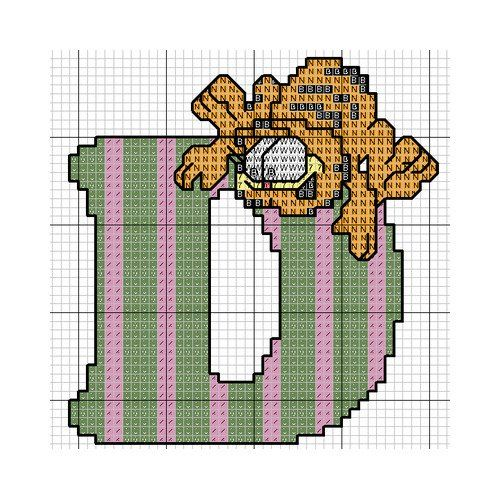 Garfield Alphabet_D